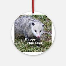 Opossum Round Ornament