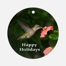 Hummingbird Round Ornament