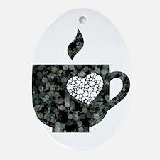 Cuppa Love Oval Ornament