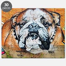 STREET ART BULLDOG ANIMAL PRINT Puzzle