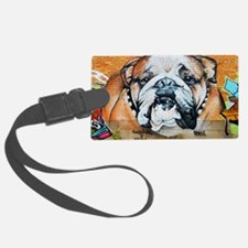 STREET ART BULLDOG ANIMAL PRINT Luggage Tag