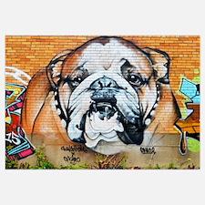 STREET ART BULLDOG ANIMAL PRINT