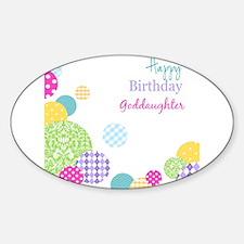 Happy Birthday God Daughter Decal