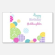 Happy Birthday God Daughter Decal