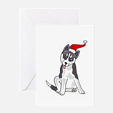 Siberian Husky Christmas Greeting Cards