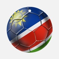 Namibia Soccer Ball Round Ornament