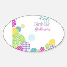 Happy Birthday God Mom Decal
