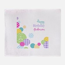 Happy Birthday God Mom Throw Blanket