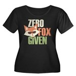 Zero Fox Women's Plus Size Scoop Neck Dark T-Shirt