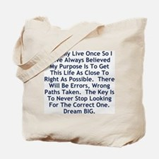 Never Stop Looking Tote Bag
