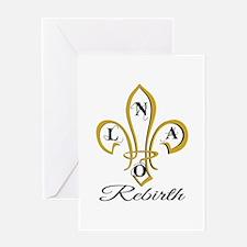 NOLA Rebirth Fleur de Lis Greeting Cards