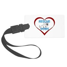 IHeart Rescue Dogs Luggage Tag