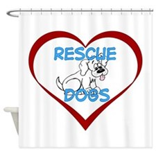 IHeart Rescue Dogs Shower Curtain