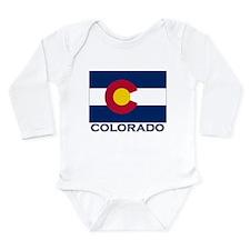 Cute Colorado Long Sleeve Infant Bodysuit