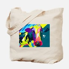 Pop Art Cow Animal Print Tote Bag