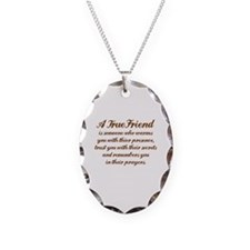 A TRUE FRIEN IS Necklace