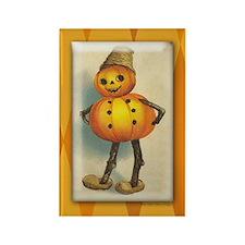 TLK007 Halloween Pumpkin Man Rectangle Magnet