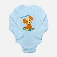 Cute Puppy dog tails Long Sleeve Infant Bodysuit