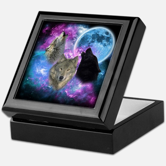 Wolves Mystical Night Keepsake Box