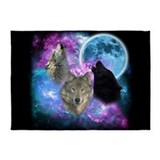 Wolf 5x7 Rugs