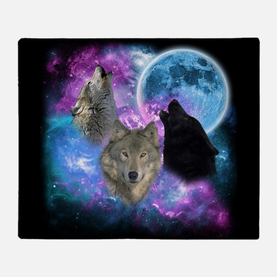Wolves Mystical Night Throw Blanket