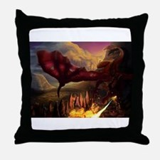 Cute Red dragon fire Throw Pillow