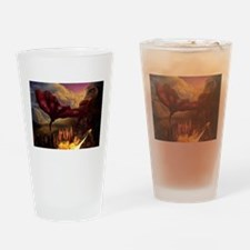 Unique Red dragon fire Drinking Glass