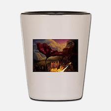 Cute Red dragon fire Shot Glass