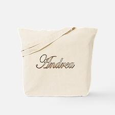 Gold Andrea Tote Bag