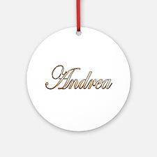 Gold Andrea Round Ornament