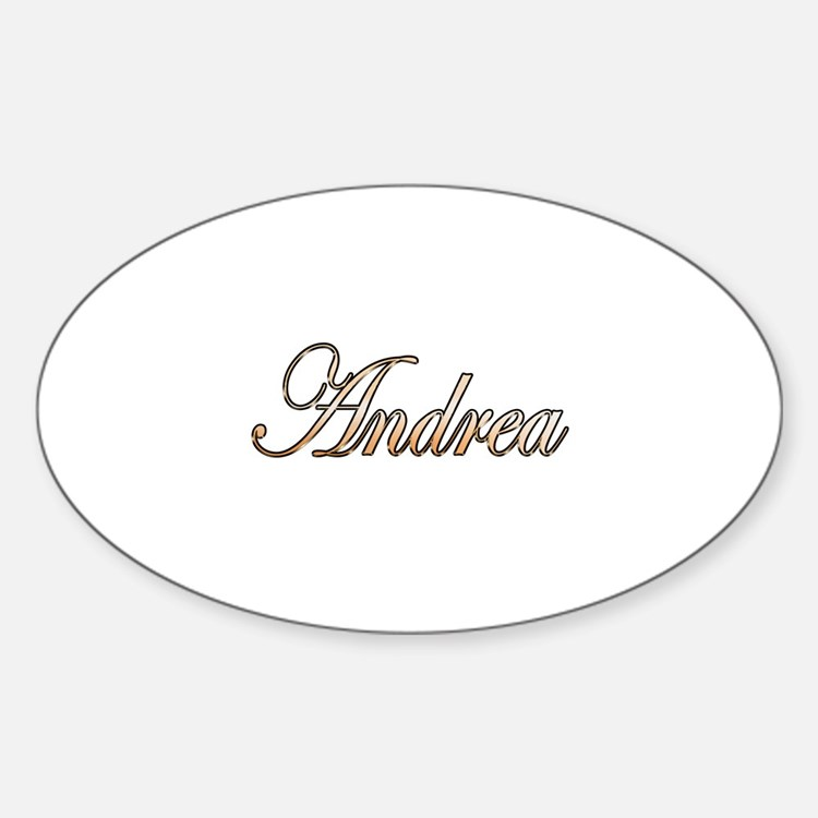 Gold Andrea Sticker (Oval)