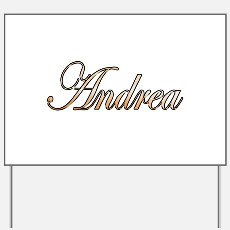 Gold Andrea Yard Sign