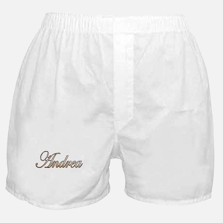 Gold Andrea Boxer Shorts
