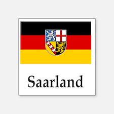 "Germany Flag  Square Sticker 3"" x 3"""