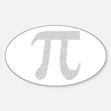 Digits of Pi Oval Decal