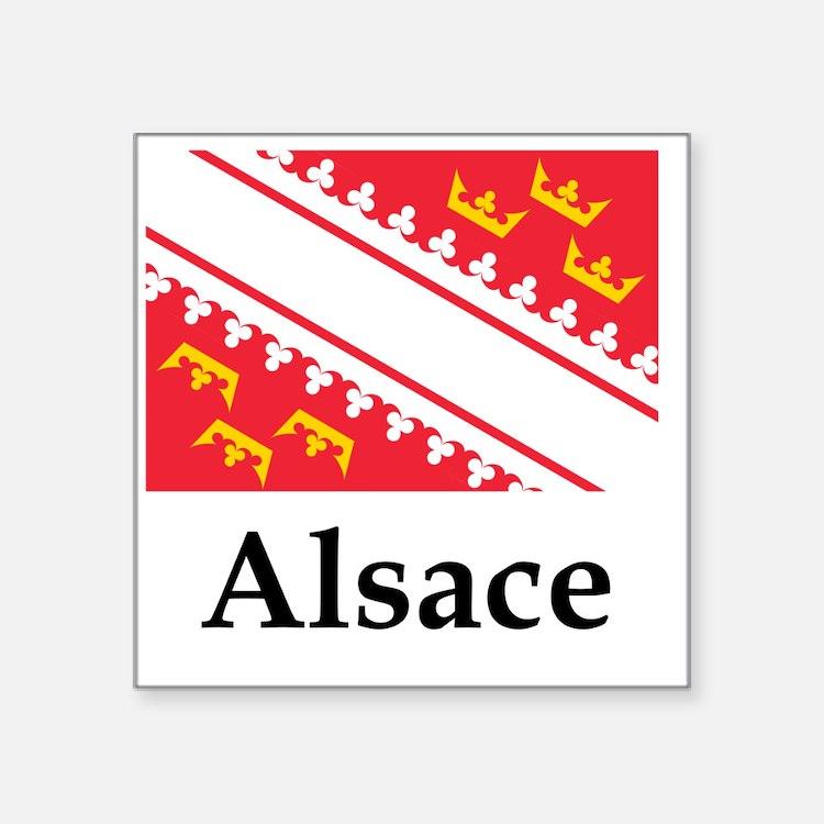 "France Flag Square Sticker 3"" x 3"""