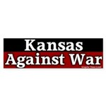 Kansas Antiwar Bumper Sticker