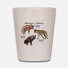 Hyenas of Africa Shot Glass