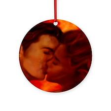 Hot Kiss Ornament (Round)