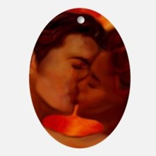 Hot Kiss Oval Ornament
