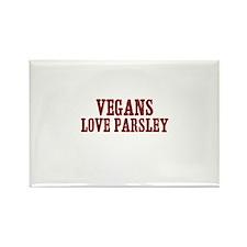vegans love parsley Rectangle Magnet