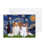Starry Night & Papillon Greeting Cards (Pk of 20)