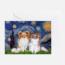 Starry Night & Papillon Greeting Card