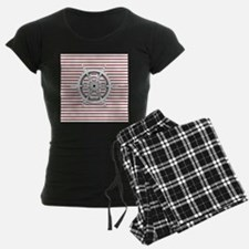red stripes ship wheel nauti pajamas