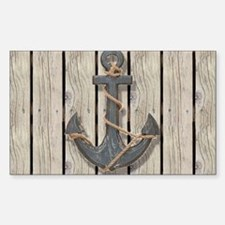 shabby chic wood blue ancho Decal