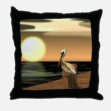 Cute Pelican Throw Pillow