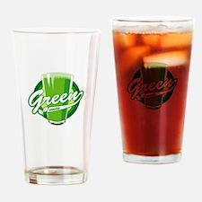 Green Smoothie logo Drinking Glass