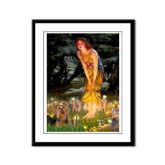 Midsummer / Yorkie Framed Panel Print