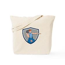 Highland Games Stone Put Throw Crest Retro Tote Ba