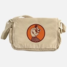 Scotsman Weight Throw Circle Retro Messenger Bag